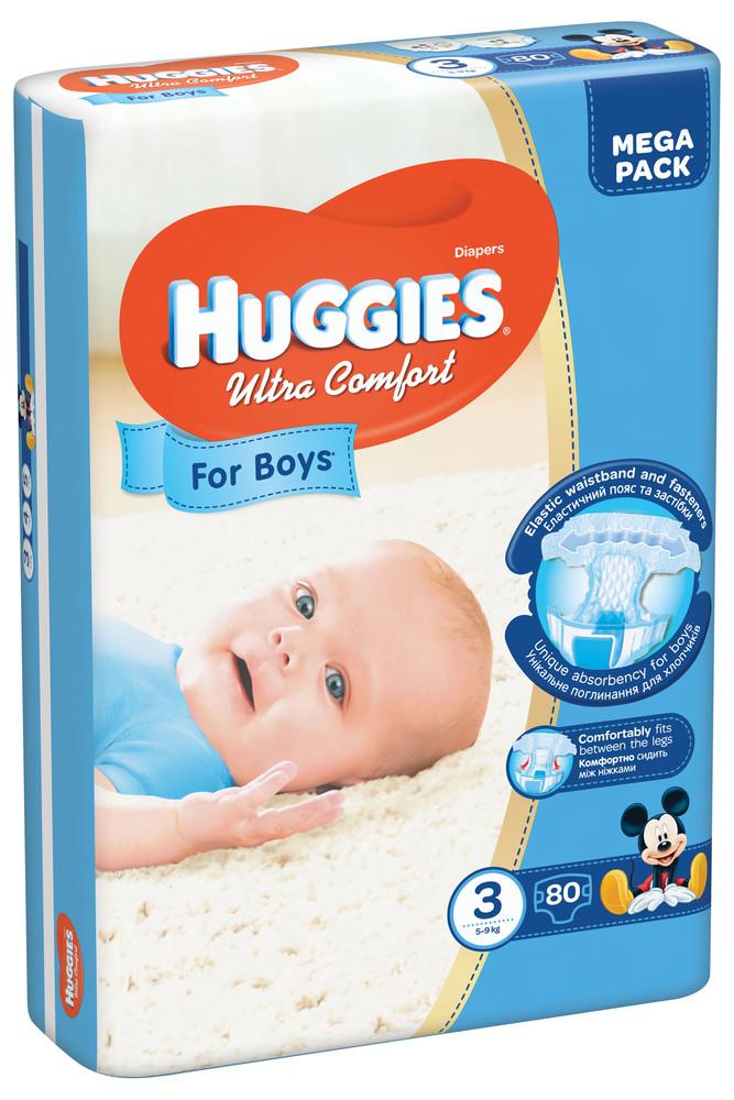 Подгузники huggies ultra comfort giga 3-80 для мальчика хаггис ультра фото №1