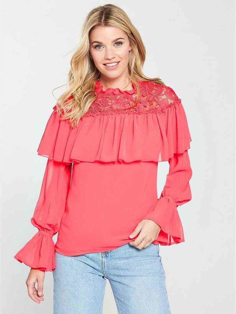 Шикарная блузка  v by very размер 16 английский фото №1