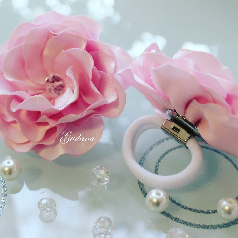 Резинка цветок для волос! фото №1
