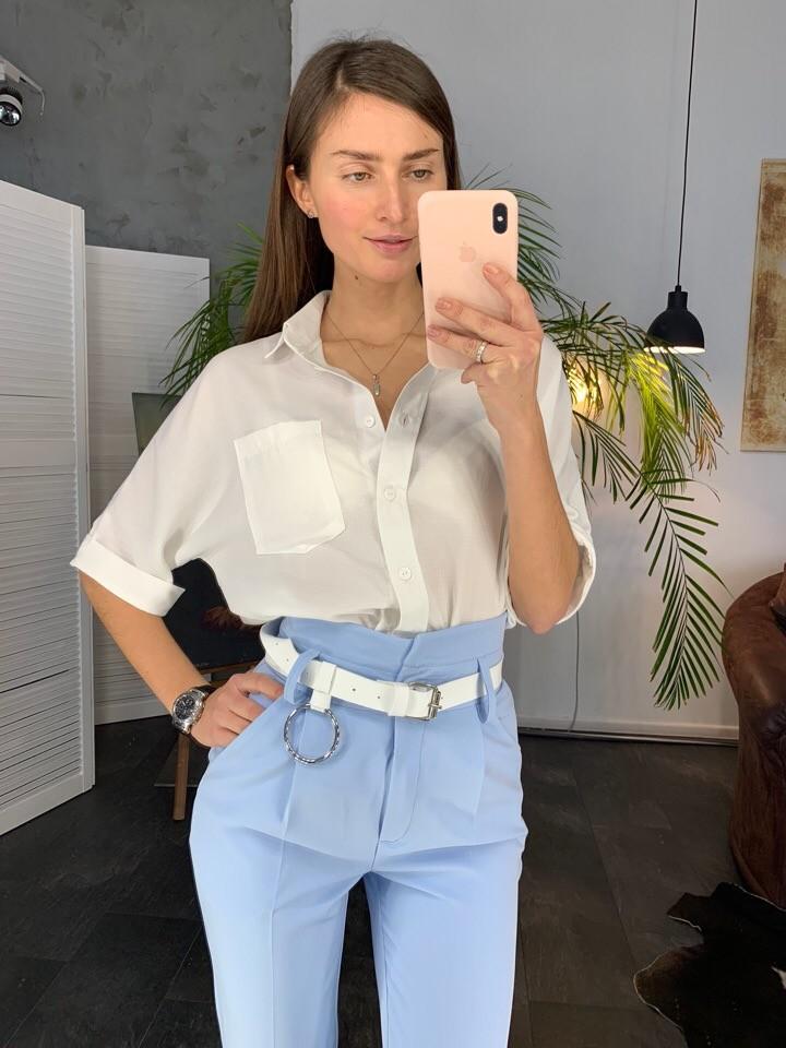 Классические женские  брюки с ремнем фото №1