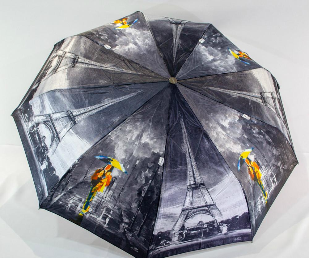 Женский красивенный зонт автомат антиветер сатиновый купол universal фото №1