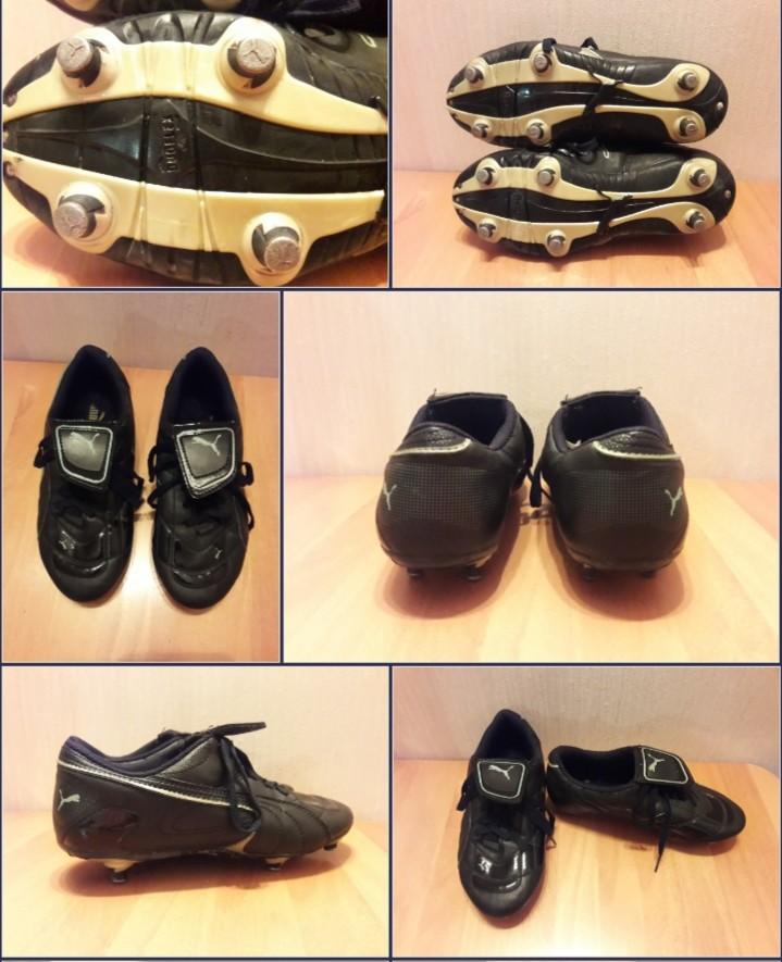 Копочки (бутсы) кроссовки puma для футбола фирменные размер 33-34 длина по стельке 21 см фото №1