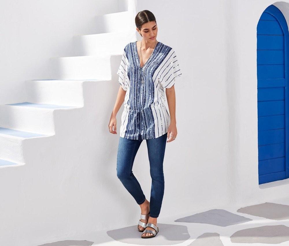 Очаровательная туника-блуза от тсм tchibo 36/38 евро фото №1
