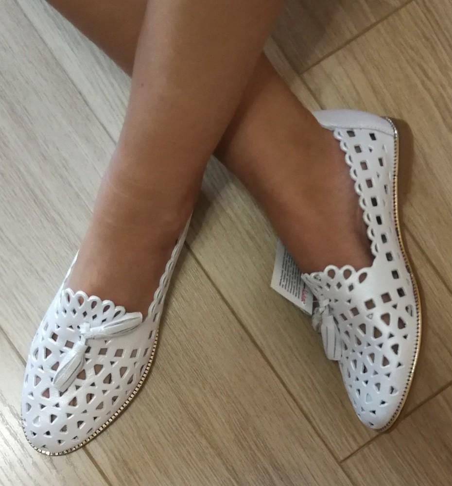 Versace ! стильные женские белые летние кожаные балетки туфли натуральная кожа фото №1