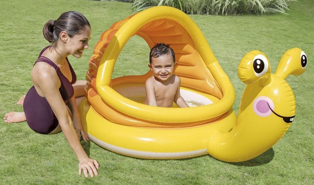Детский надувной бассейн intex 57124 ленивая улитка фото №1