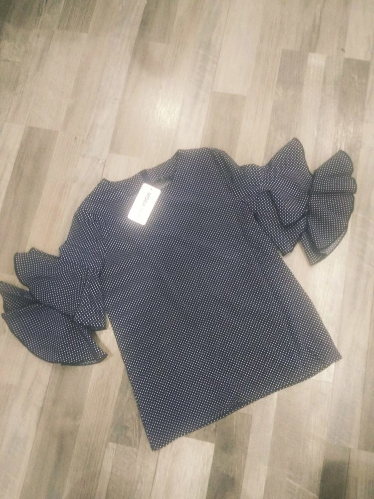 Блузка воланы на рукавах школа от производителя в ассортименте 128-152 фото №1