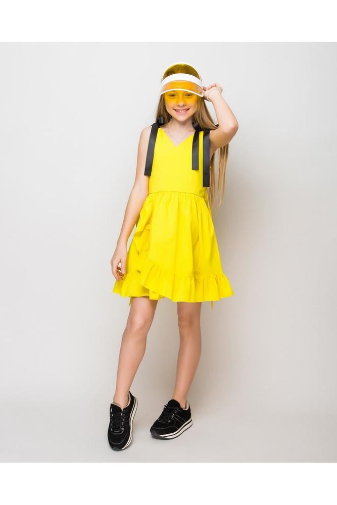 Сарафан  l13 желтый, розовый и голубой фото №1