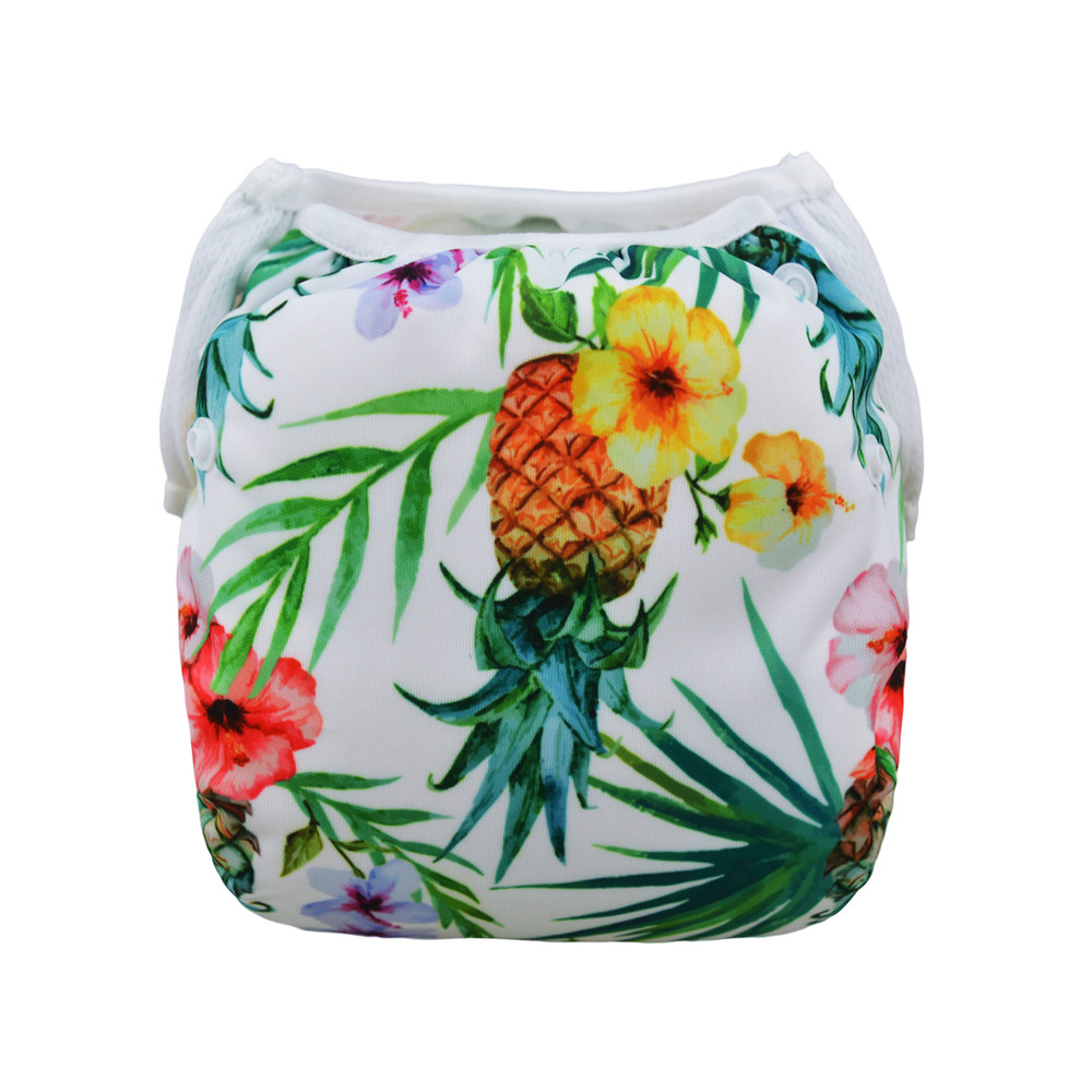 Многоразовый подгузник для плаванья ананас berni фото №1