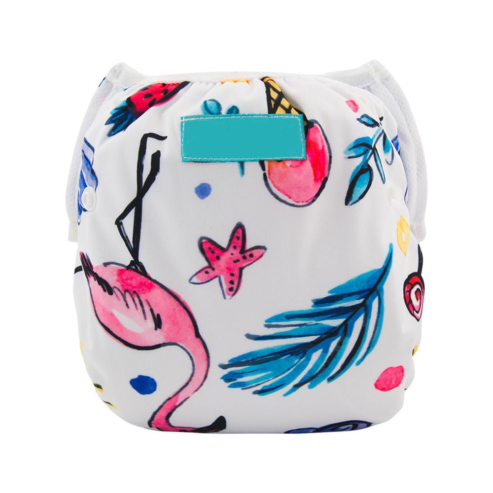 Многоразовый подгузник для плаванья фламинго berni фото №1