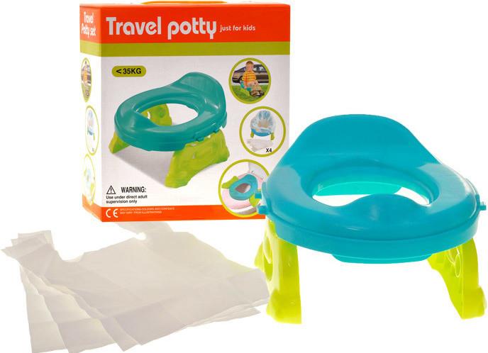 Детский дорожный горшок с пакетами 8806-8807, 2 цвета фото №1