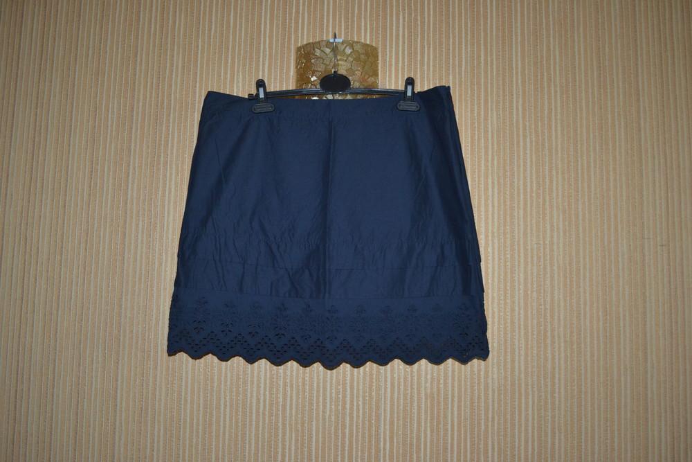 Xl/42/14 замечательная юбка с прошвой. легкая и нарядная. yessica фото №1
