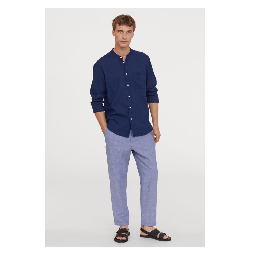 Отличные льняные брюки h&m p.40, p.54 фото №1