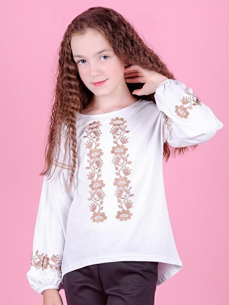 Вышиванка для девочек-подростков с длинным рукавом фото №1