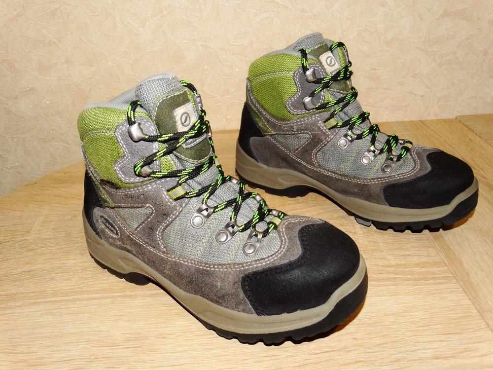 Р.36 треккинговые ботинки на мембране gore-tex , 23 см. по стельке . фото №1