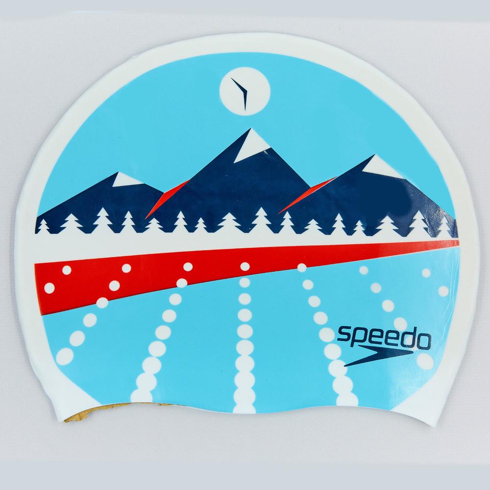 Шапочка для плавания speedo light adriatic 85b956: силикон, цвет голубой фото №1