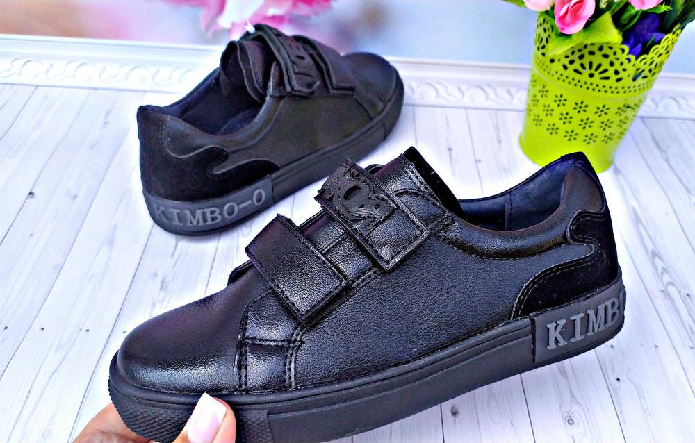 Туфли кеды, кроссовки  р-р 31-36 черные  фирма kimbo фото №1