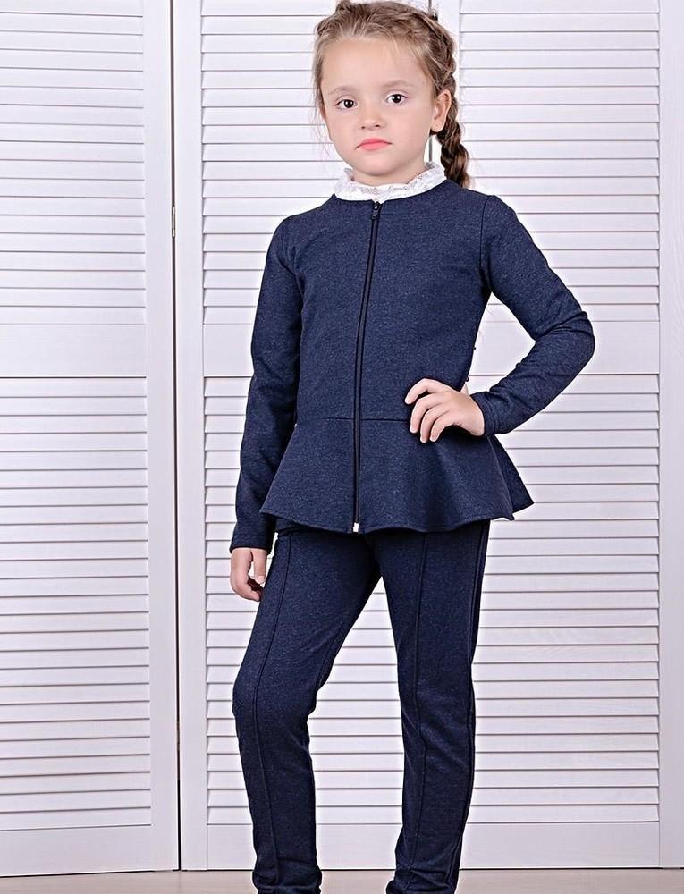 Пиджак школьный жакет для девочек фото №1