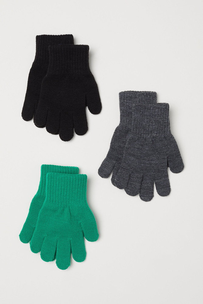 H&m ))) фірмовий набір перчаток ( 3 штук ) фото №1