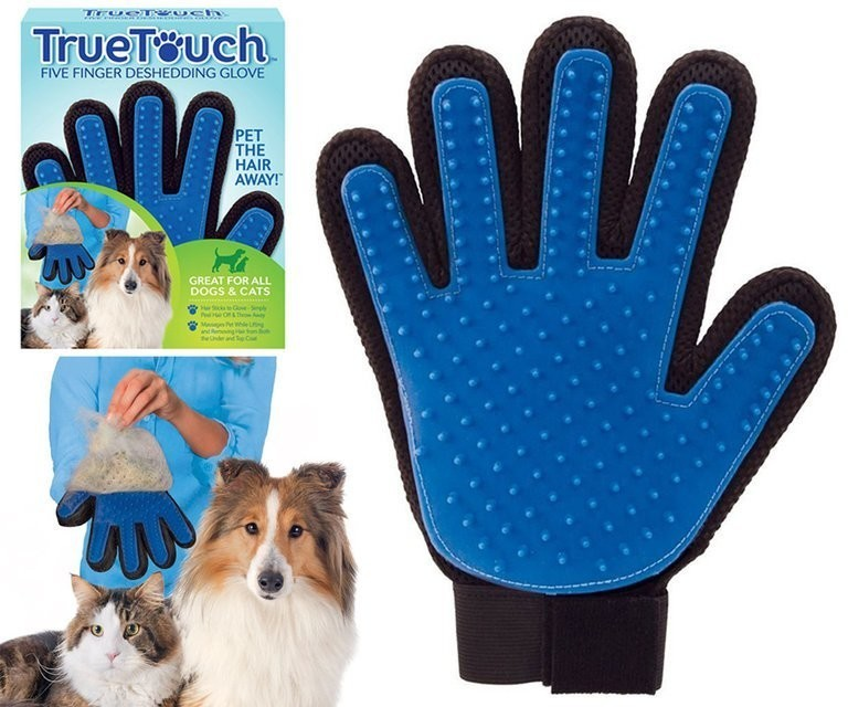 True touch - массажная перчатка для чистки животных фото №1