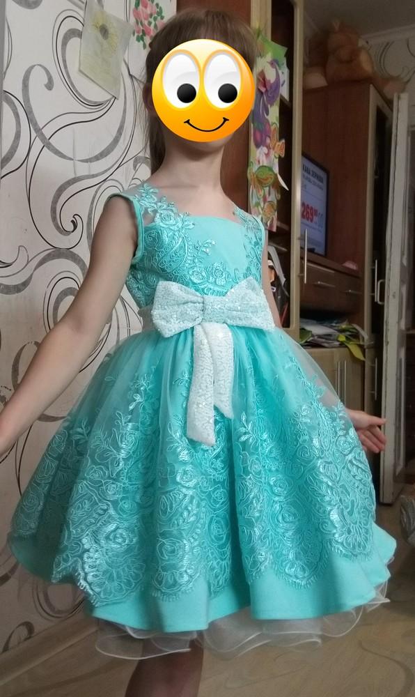 Очаровательное  платье 110-116 фото №1