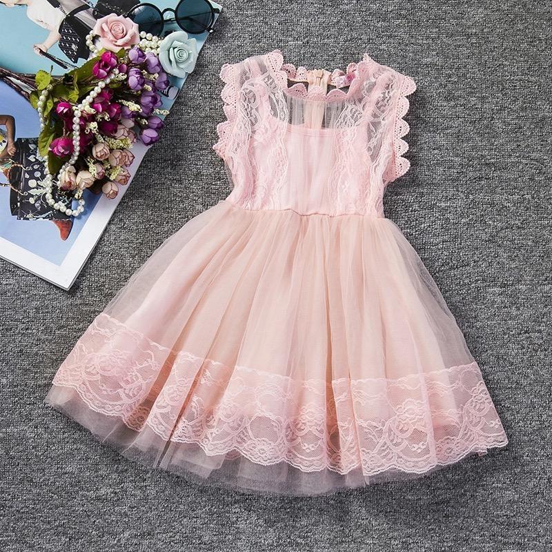 Персиковое нарядное платье фото №1
