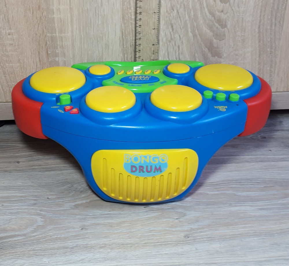 Музыкальная барабанная установка bongo drum фото №1