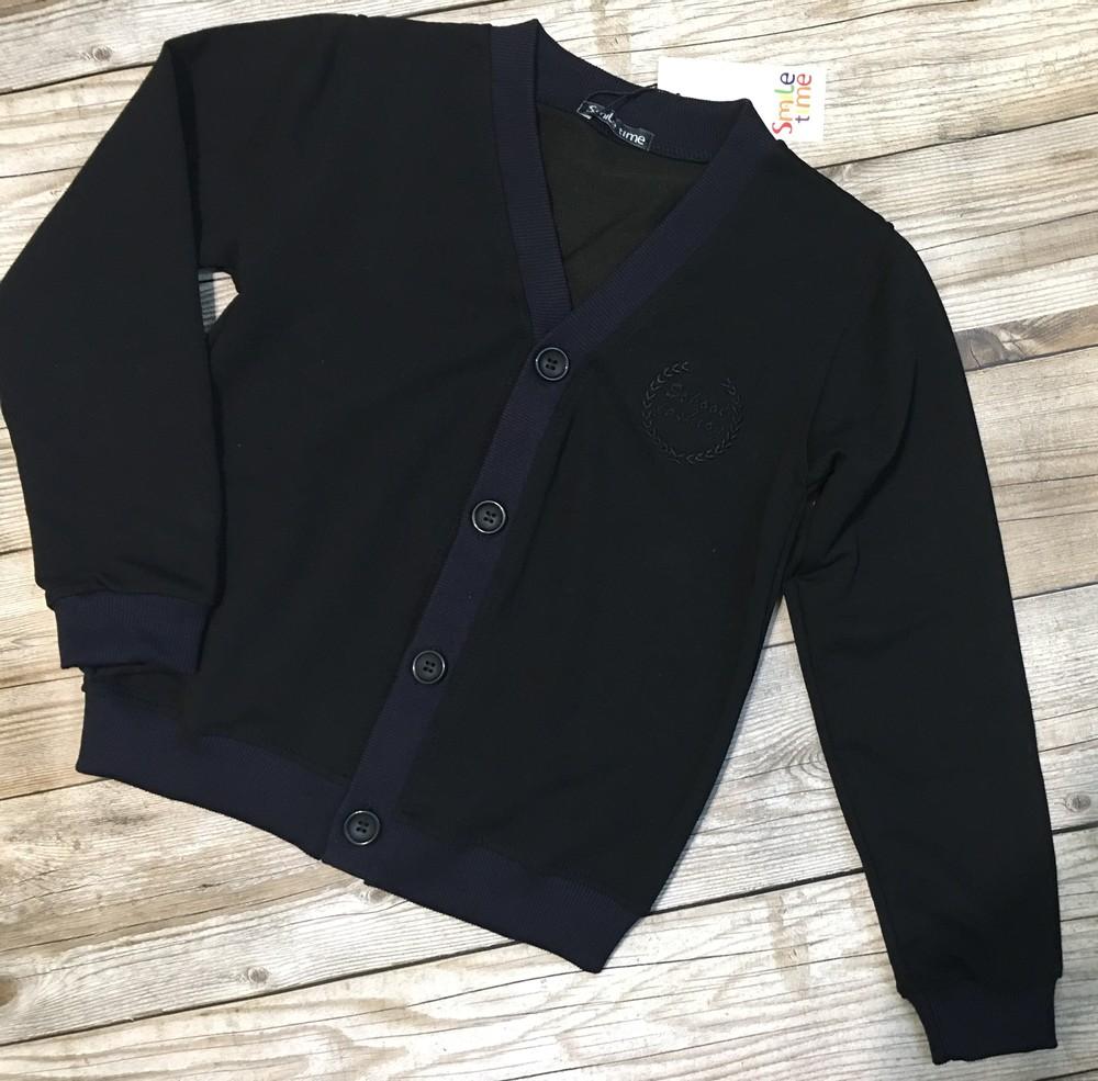 Пуловер детский,кофта на пуговицах для мальчика и девочки.рост 122-164 фото №1
