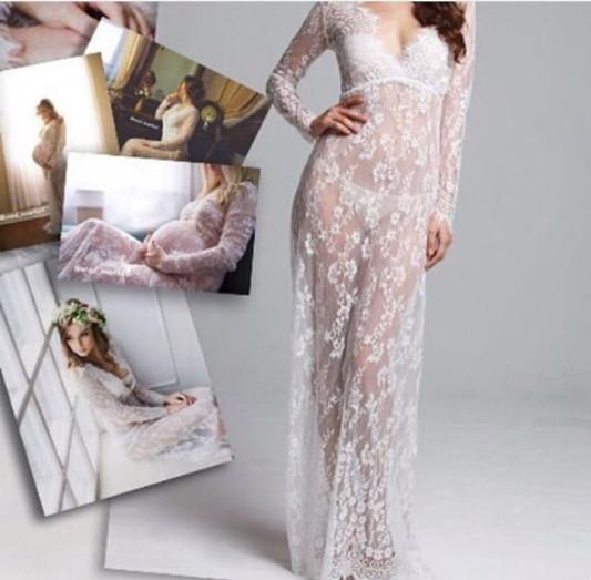 Кружевной белый пеньюар, платье для фотосессии +маска фото №1