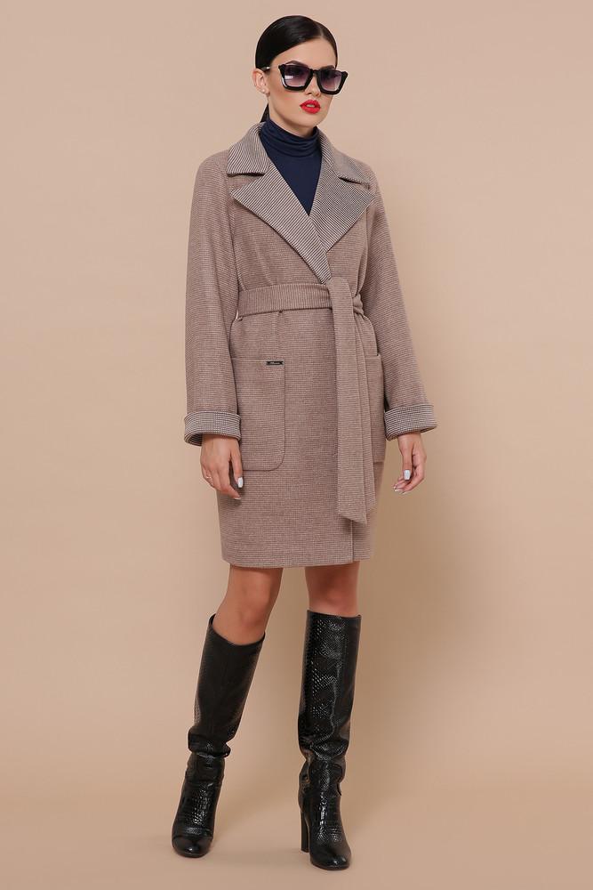 Шерстяное пальто с воротником размеры 42-54 фото №1