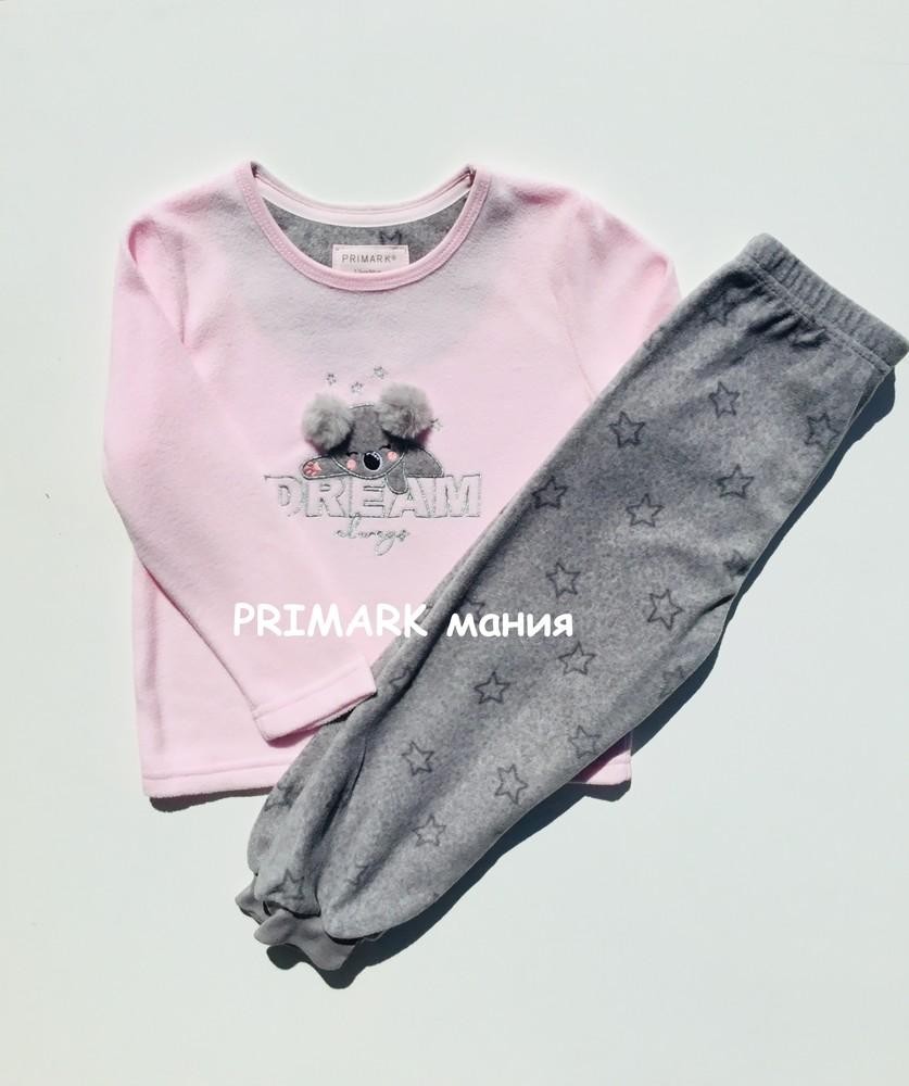 Флисовая пижама для девочки primark фото №1