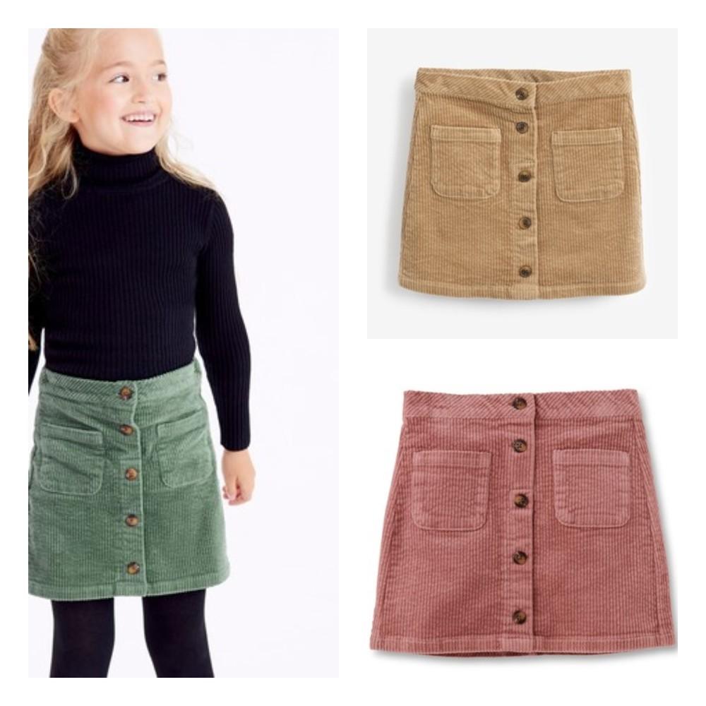 Вельветові юбки (спідники) next для дівчат розм. 3-16 р. під замовлення фото №1