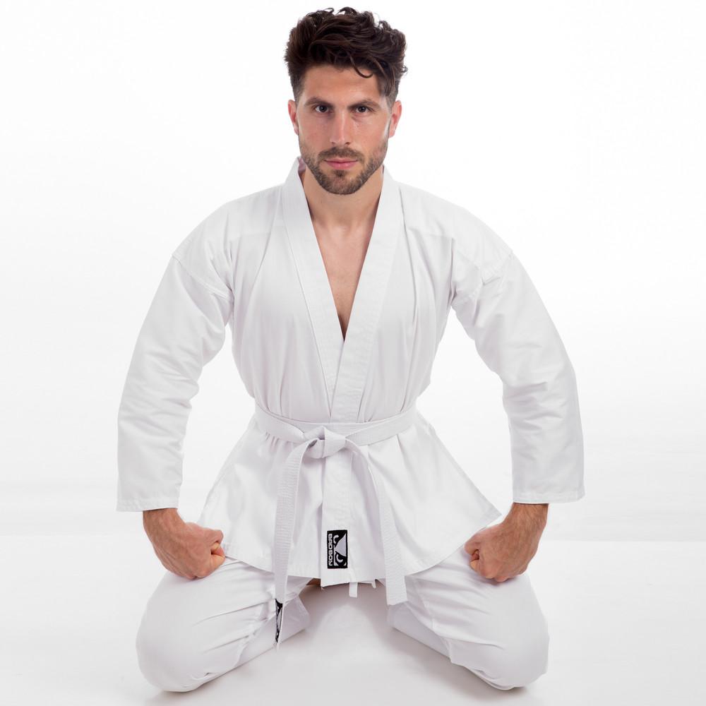 Кимоно для каратэ белое bad boy 8190: размер 110-190см, плотность 240 фото №1