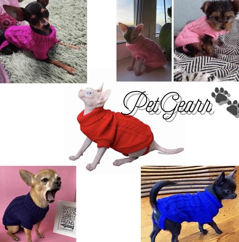 Одежда для собак и кошек тёплый свитерок фото №1