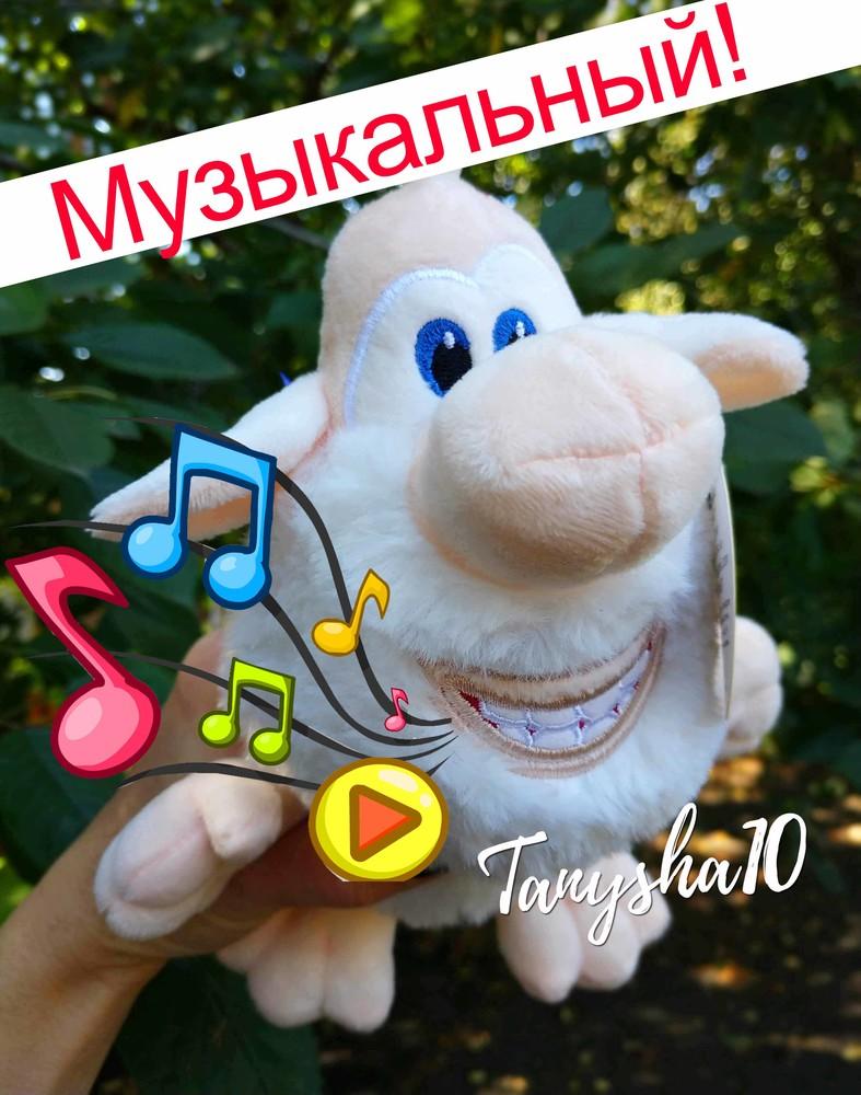 Музыкальная мягкая игрушка домовенок буба мультяшный гномик 2 размера фото №1