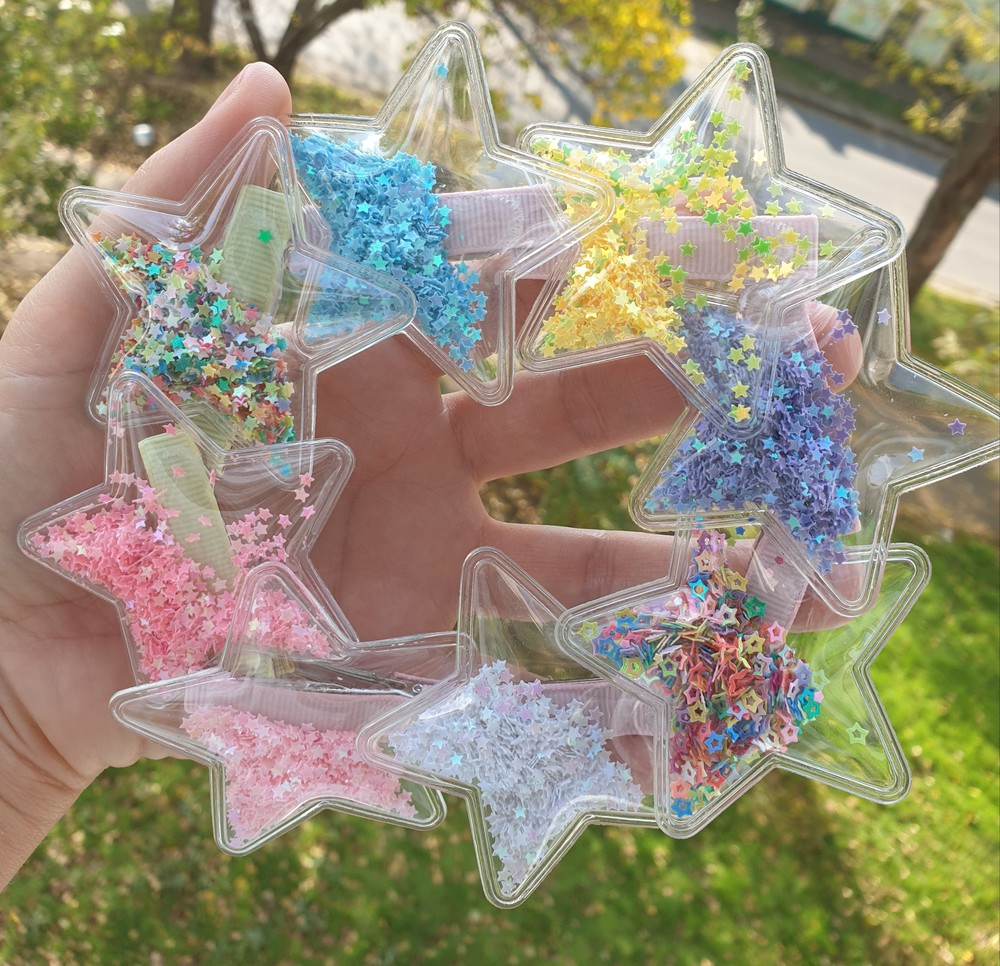 Заколка пвх звезда очень красивая (разные цвета) фото №1