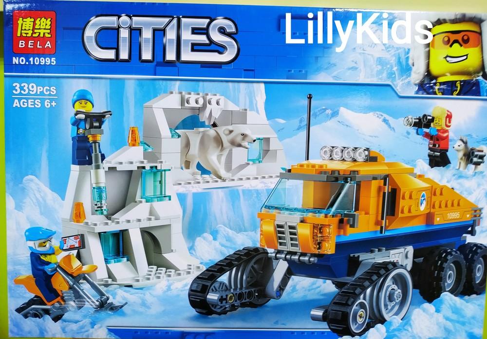 """Конструктор bela cities arctic 10995 """"грузовик ледовой разведки"""" (аналог lego city 60194), 339 дет фото №1"""