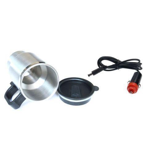 Автомобильная термокружка с подогревом от прикуривателя car mug 350 мл. фото №1