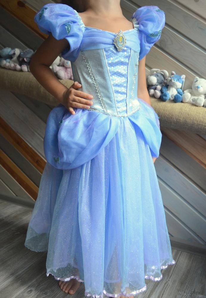 Платье нарядное золушка принцесса disney (5-6л) фото №1