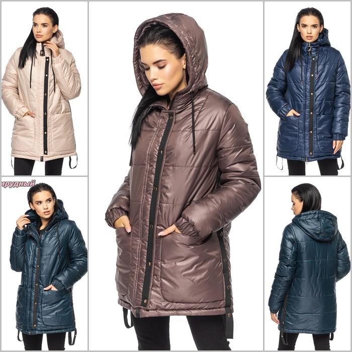 Модная удлиненная зимняя куртка с глубоким капюшоном, куртка зима фото №1