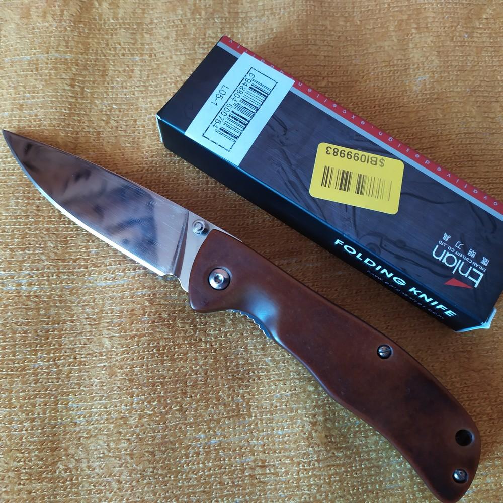Нож enlan l-05 (переделан) оригінал с коробкой фото №1