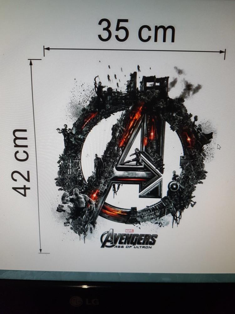 3d наклейка, marvel,avengers, мстители, размер 42×35см.качество супер! фото №1