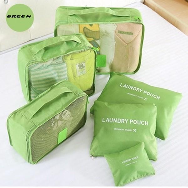 Набор дорожных органайзеров secret pouch. зеленый фото №1