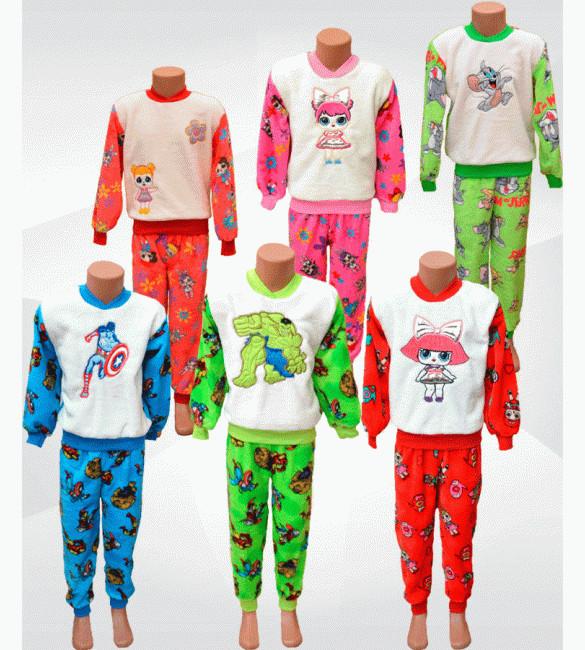Детские махровые пижамы фото №1
