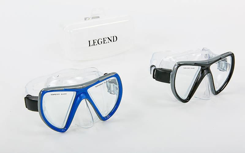 Маска для плавания legend m269-pvc: термостекло, пластик фото №1