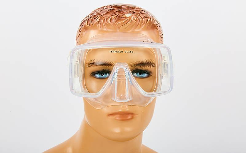 Маска для плавания legend m109-sil: термостекло, силикон, пластик фото №1