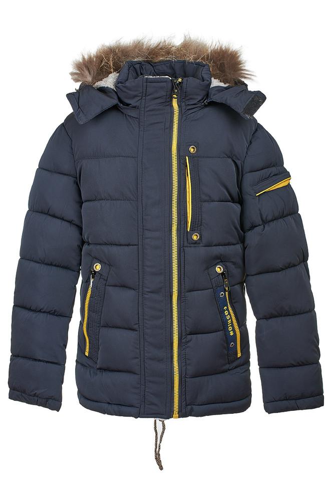 Теплая зимняя куртка на мальичка 134-152 фото №1
