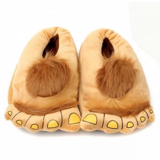 Тапочки ноги первобытного человека brown (110707) фото №1