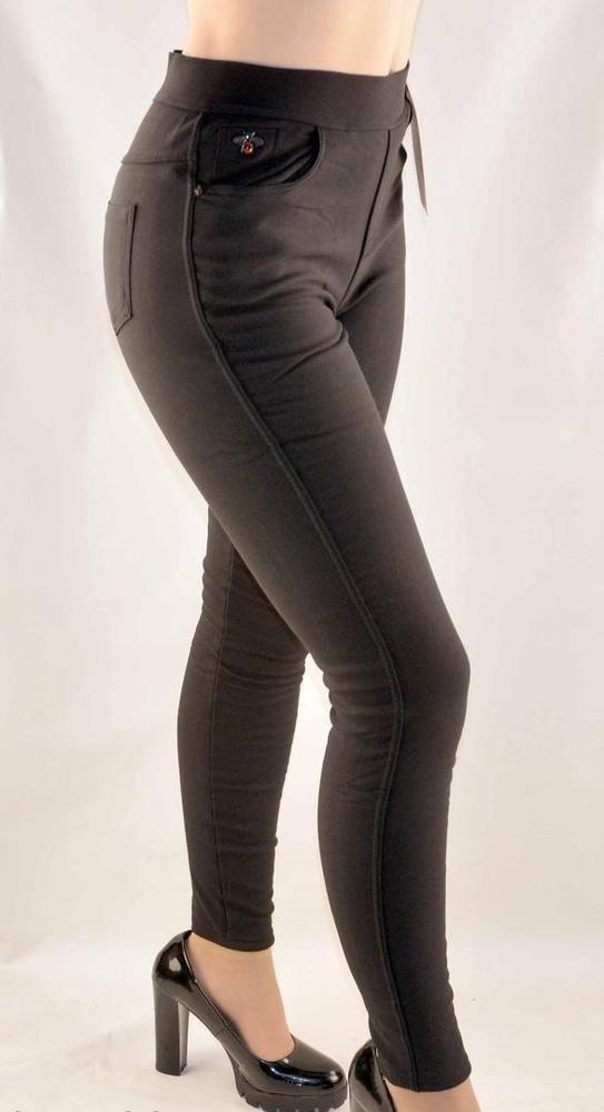 Джеггинсы меховые женские джинсы р. 42-48 фото №1