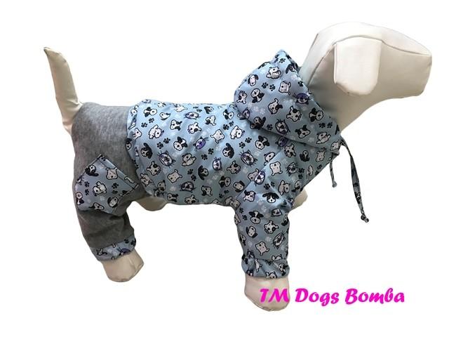 Комбинезон для собачек с отсежными штанами co-16 фото №1