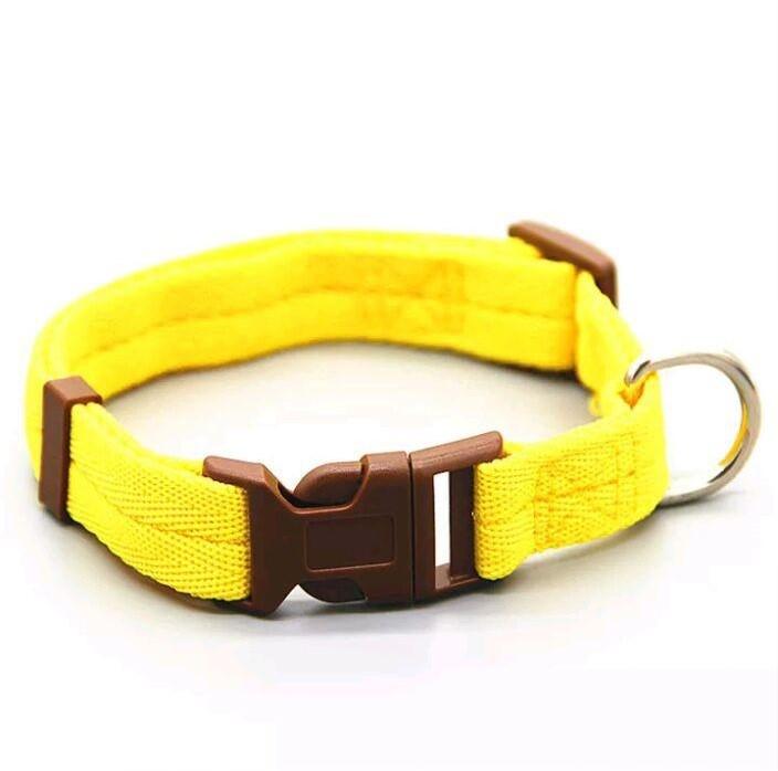 Ошейник для животных жёлтого цвета, размер l фото №1